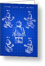 Lego Figure Patent 1979 - Blue Greeting Card