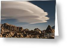 Lenticular Clouds Over Alabama Hills Greeting Card