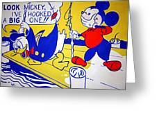 Lichtenstein's Look Mickey Greeting Card
