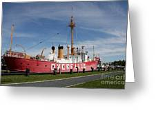 Light Vessel Overfalls Greeting Card