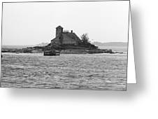 Lighthouse Island - Portland Maine Greeting Card