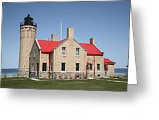 Lighthouse - Mackinac Point Michigan Greeting Card