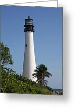 Ligthouse - Key Biscayne Greeting Card