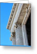 Lincoln County Courthouse Columns Looking Up 02 Greeting Card