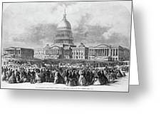 Lincoln Inauguration, 1865 Greeting Card
