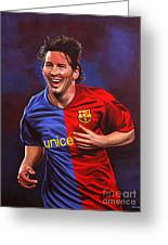 Lionel Messi  Greeting Card by Paul Meijering