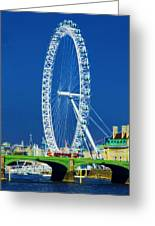 London Eye Westminster Bridge Greeting Card