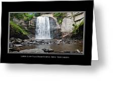 Looking Glass Falls North Carolina Greeting Card