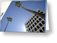 Looking Up In Beverly Hills Greeting Card