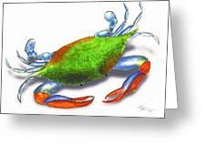 Louisiana Blue Crab Greeting Card