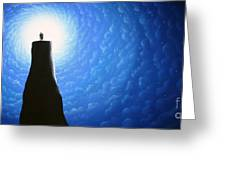 Love Will Show You The Light Greeting Card by Chris Mackie