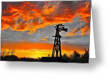Lubbock Skyline Greeting Card by GCannon