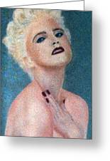 Madonna The Early Years Greeting Card