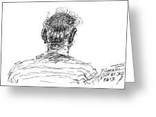 Man Head Greeting Card