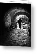 Man In An Archway / Hammamet Greeting Card
