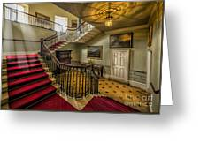Mansion Stairway Greeting Card