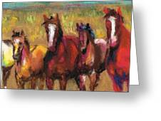 Mares And Foals Greeting Card