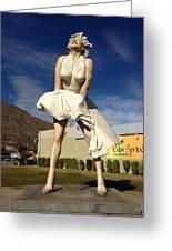 Marilyn In Palm Springs Greeting Card