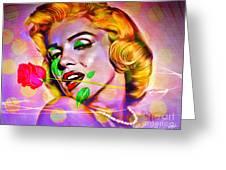 Marilyn Monroe Greeting Card by Eleni Mac Synodinos