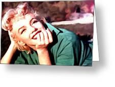 Marilyn Monroe Large Size Portrait Greeting Card
