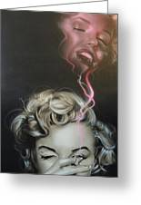 Marilyn's Crimson Haze Greeting Card