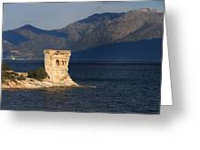 Martello Tower Near St Florent In Corsica Greeting Card