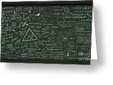 Maths Formula On Chalkboard Greeting Card