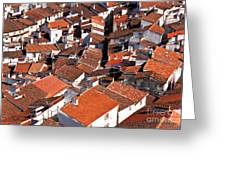 Medieval Town Rooftops Greeting Card