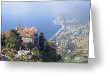 Mediterranean Below Eze 2 Greeting Card