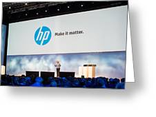Meg Whitman At Hp Discover 2012 Greeting Card