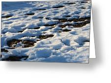 Melting Snow On Lawn Greeting Card