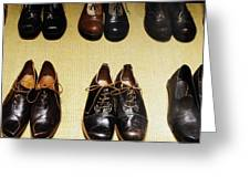 Mens Fine Italian Leather Shoes Greeting Card