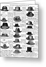 Men's Hats, 1895 Greeting Card