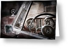 Mercedes-benz 250 Se Steering Wheel Emblem Greeting Card