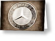 Mercedes-benz 6.3 Amg Gullwing Emblem Greeting Card