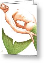 Merman Greeting Card