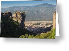 Meteora, Thessaly, Greece. The Eastern Greeting Card