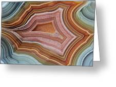 Mexican Banded Agate Quartzsite, Arizona Greeting Card