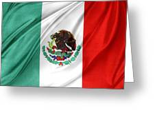 Mexican Flag Greeting Card