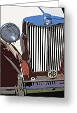 Mg Grille Abstract Greeting Card