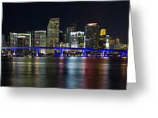 Miami Downtown Skyline Greeting Card