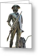 Minute Man Statue Concord Massachusetts Greeting Card by Staci Bigelow