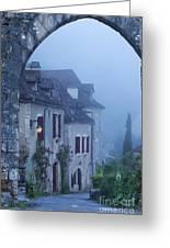 Misty Dawn In Saint Cirq Lapopie Greeting Card