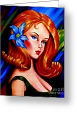 Mod Barbie Redhead Greeting Card