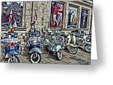 Mod Scooters And 60s Fashion Greeting Card