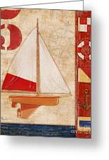 Model Yacht Collage II Greeting Card by Paul Brent