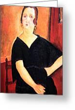 Modigliani's Madame Amedee -- Woman With Cigarette Greeting Card