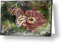 Monarch- Butterfly Mixed Media Photo Composite Greeting Card