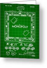 Monopoly Patent 1935 - Green Greeting Card