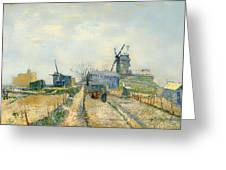 Montmartre Mills And Vegetable Gardens Greeting Card